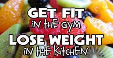 ถ้าเราจะฟิตต้องทำในยิม เเละถ้าต้องการให้น้ำหนักลดต้องทำในครัว