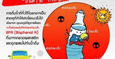อันตรายจากการดื่มน้ำที่ทิ้งไว้ในรถ เสี่ยงได้มะเร็ง
