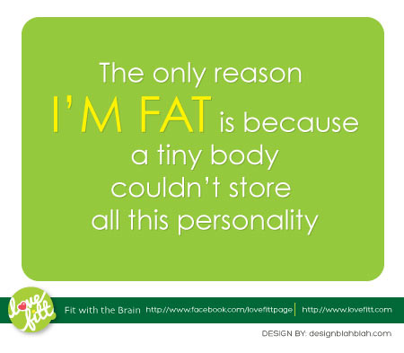 เหตุผลอย่างเดียวที่ทำให้อ้วนคือ ร่างกายไม่สามารถเก็บลักษณะนิสัยการกินของเราได้หมด