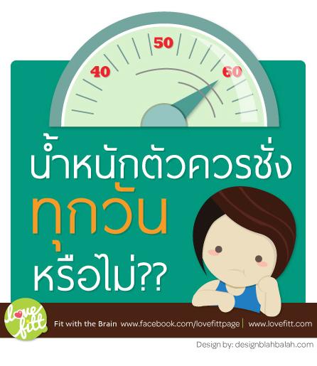 ควรชั่งน้ำหนักทุกวันหรือไม่