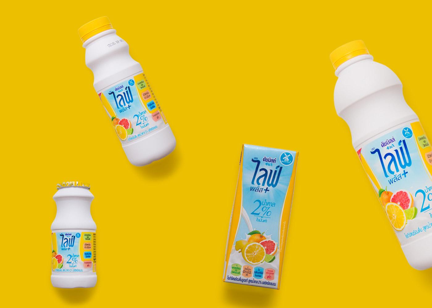 พลังงานของดัชมิลล์ 4 IN 1 ไลฟ์พลัส สูตรน้ำตาล 2% รสซิตรัสเลมอน