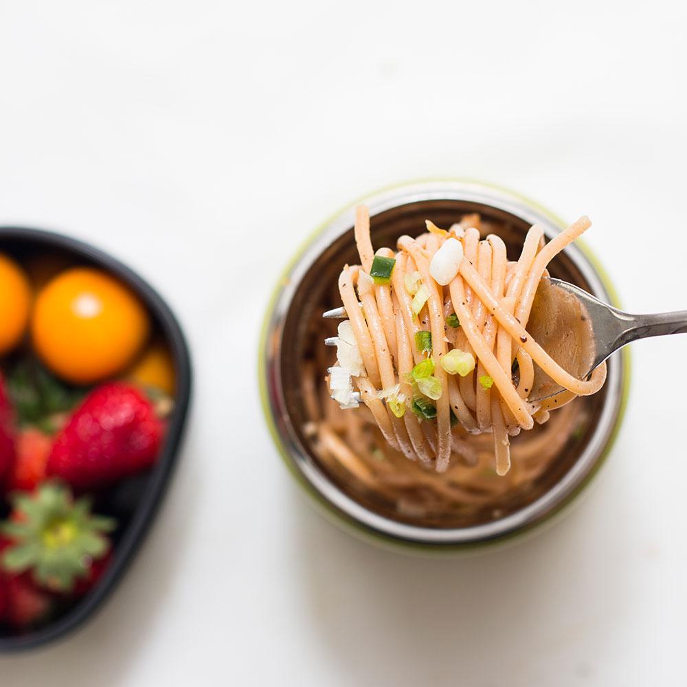 กระติกอาหารโซจิรูชิใส่ spaghetti