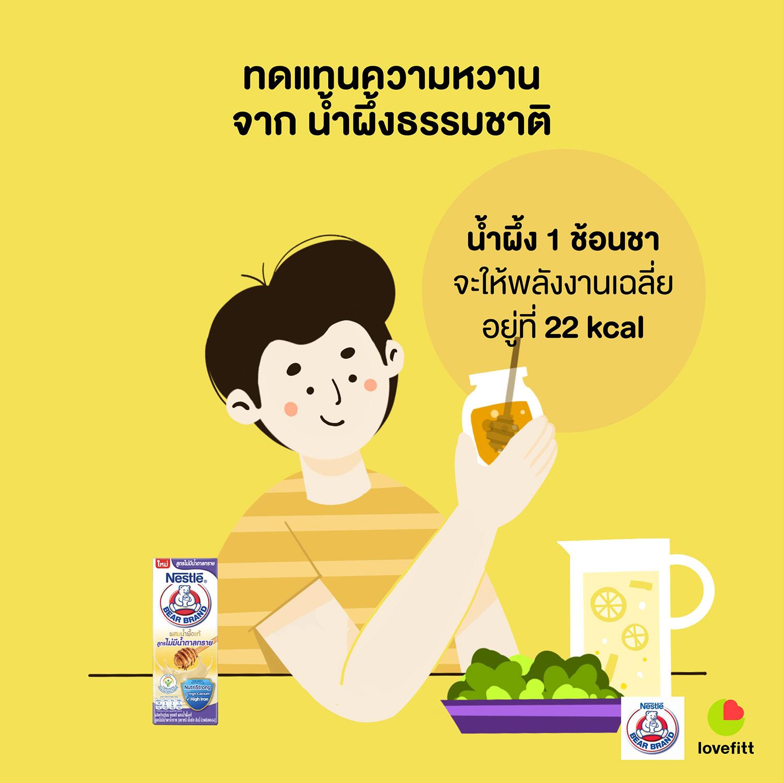น้ำผึ้ง 1 ช้อนชา จะให้พลังงานเฉลี่ยนอยู่ที่ 22 kcal