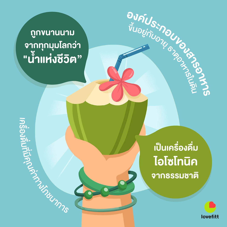 น้ำมะพร้าวถูกเรียกว่าน้ำแห่งชีวิต